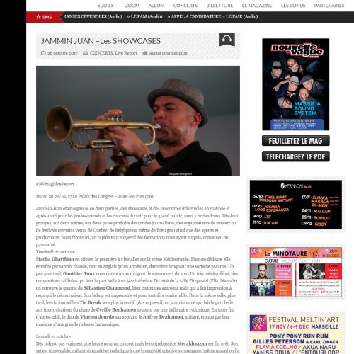 Concert at  Jazz a Juan (Fr): fantastic review!