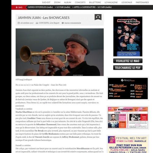 Concert at  Jazz a Juan (Fr): fantastic review!